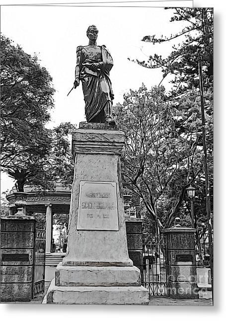 The Liberator - Simon Bolivar II Greeting Card
