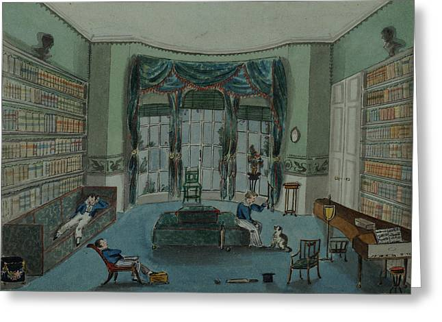 The Library, C.1820, Battersea Rise Greeting Card