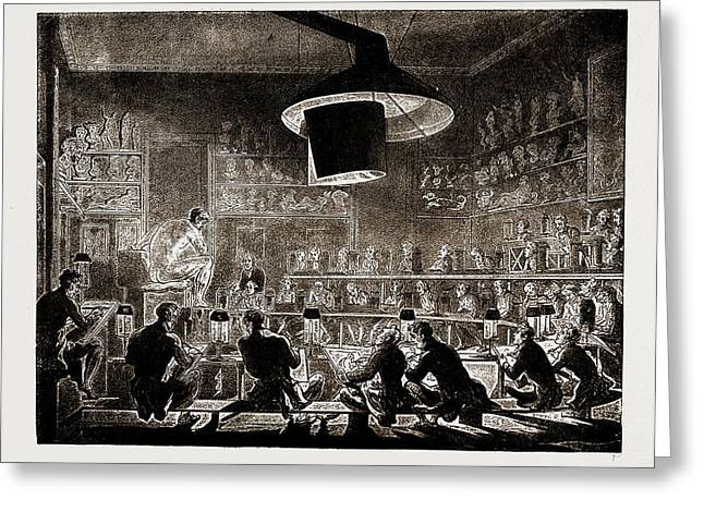 The Life School Of The Academy, Somerset House Greeting Card by Litz Collection