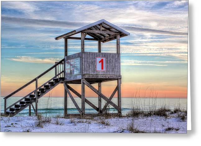 The Lifeguard Stand Greeting Card by JC Findley