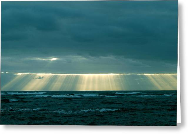 The Light Above Kapoho Greeting Card