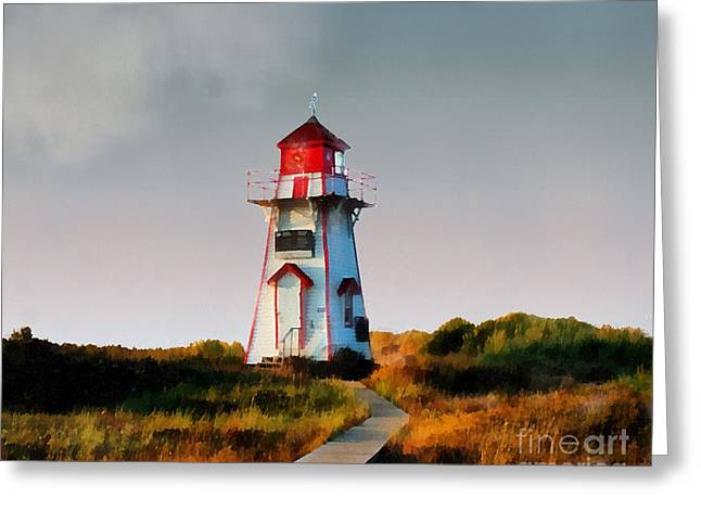 The Light At Covehead Harbour Greeting Card