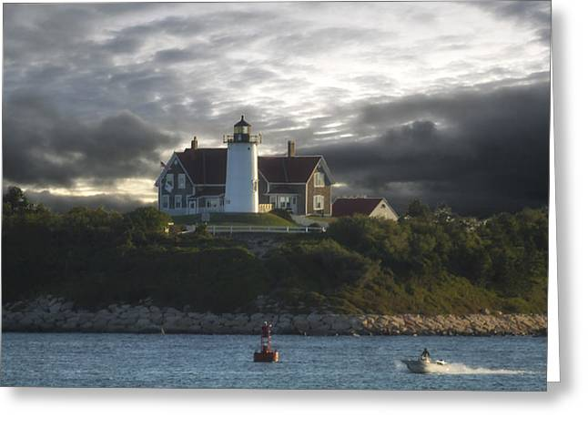 The Light At Nobska Point  Greeting Card by Constantine Gregory