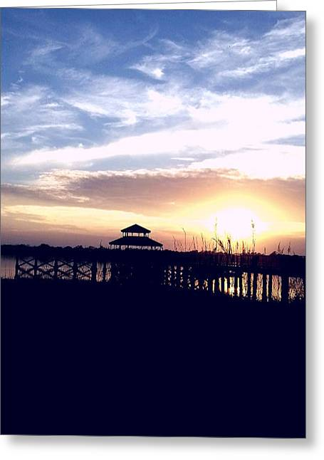 Greeting Card featuring the photograph The Light At Sunset by Joetta Beauford