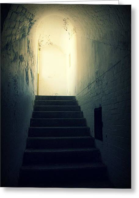 The Light At The Top Of The Stairs Greeting Card