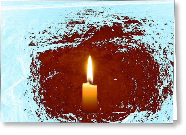 Greeting Card featuring the photograph The Light Below by Marwan Khoury