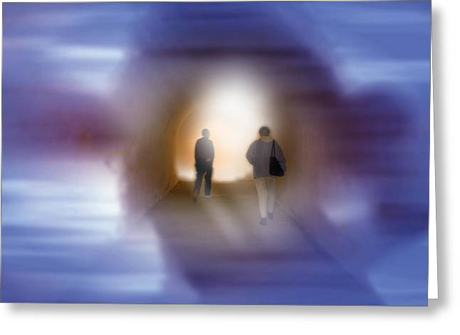 Greeting Card featuring the mixed media The Light by Bob Pardue