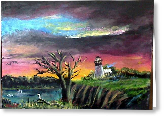The Light House-3 Greeting Card by M bhatt