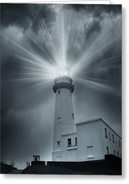 The Light House Greeting Card by Svetlana Sewell