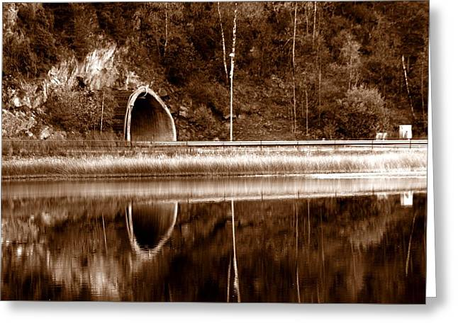 The Light In The End Of The Tunnel Greeting Card