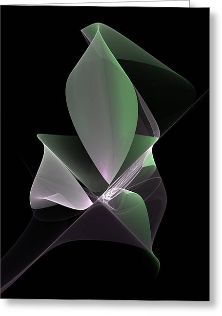 Greeting Card featuring the digital art The Light Inside by Gabiw Art