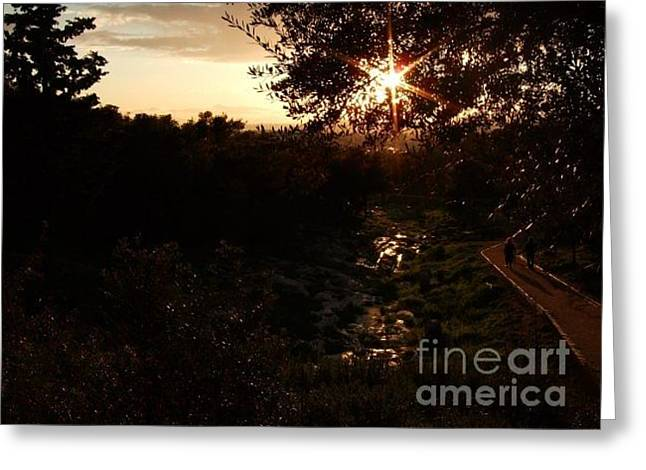 The Light Of The Dawn-8 Greeting Card by Katerina Kostaki