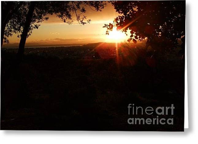 The Light Of The Dawn Greeting Card by Katerina Kostaki
