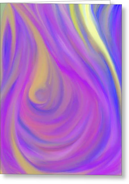 The Light Of The Feminine Ray Greeting Card by Daina White