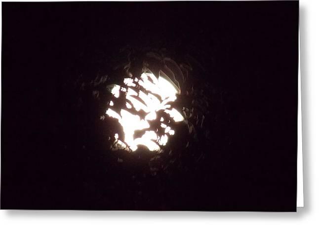 The Light Shining Through A Dark World Greeting Card