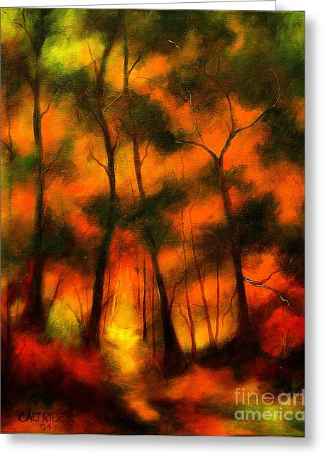 The Lighted Path Greeting Card by Alison Caltrider