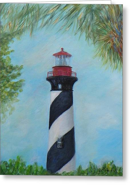 The Lighthouse In St. Augustine Florida Greeting Card