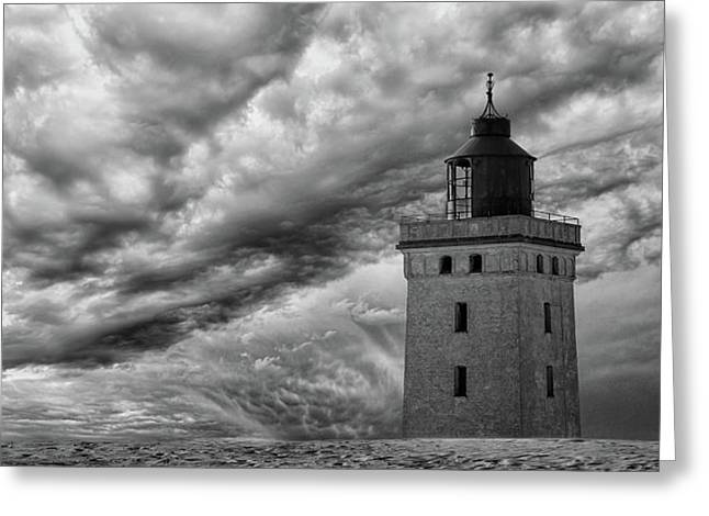 The Lighthouse Mood. Greeting Card by Leif L?ndal