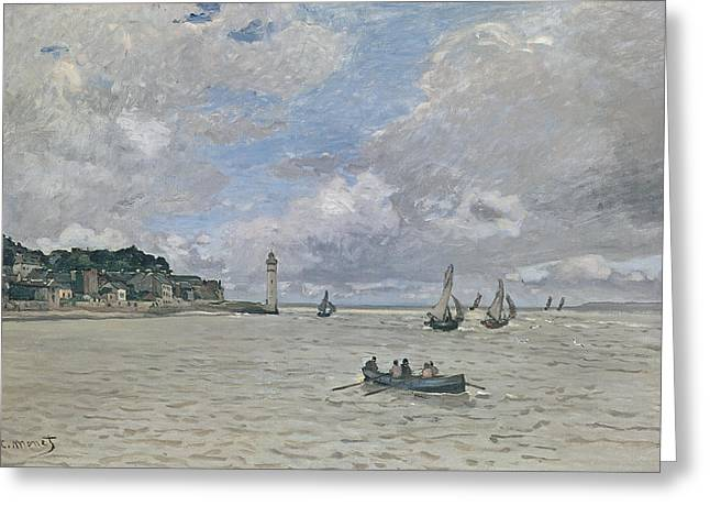 The Lighthouse Of The Hospice Honfleur, 1864  Greeting Card