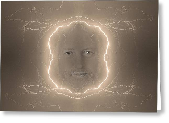 The Lightning Man Sepia Greeting Card by James BO  Insogna