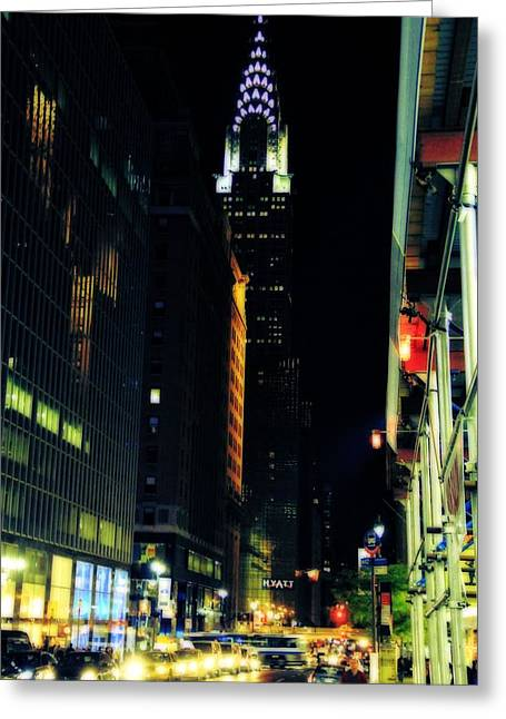 The Lights Of New York City Greeting Card by Dan Sproul