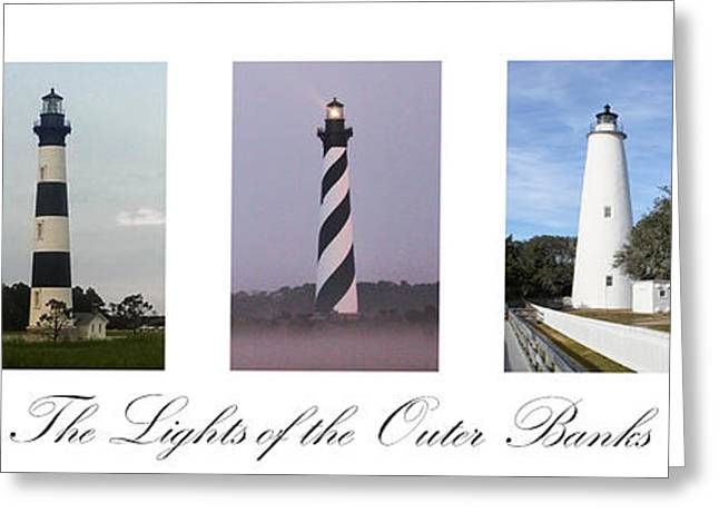 The Lights Of The Outer Banks Greeting Card by Tony Cooper