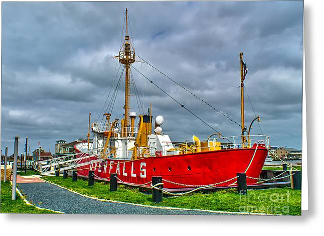 The Lightship In Lewes Greeting Card by Nick Zelinsky