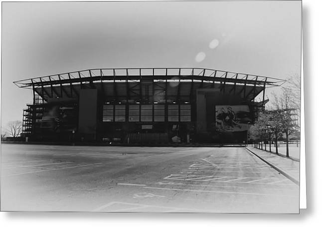The Linc In Black And White Greeting Card by Bill Cannon