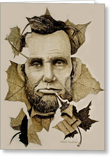 The Lincoln Leaf Greeting Card