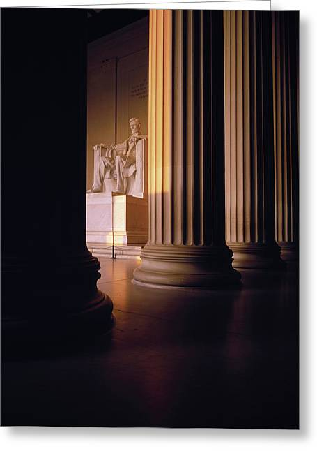 The Lincoln Memorial In The Morning Greeting Card by Panoramic Images