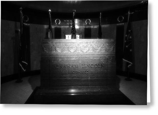 The Lincoln Tomb In Black And White Greeting Card