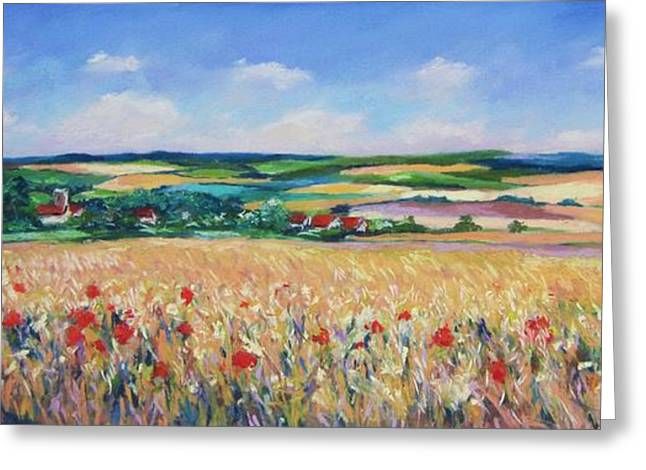 The Lincolnshire Wolds Greeting Card by John Clark