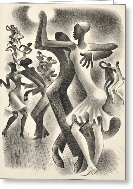 The Lindy Hop Greeting Card by  Miguel Covarrubias