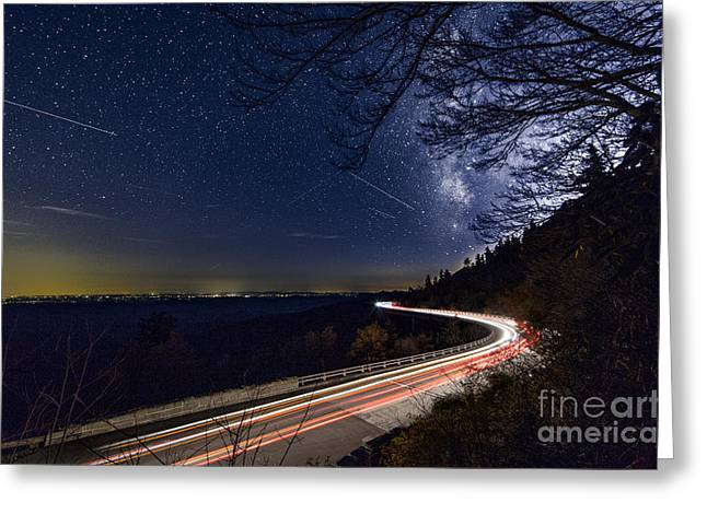 The Linn Cove Viaduct Milky Way Greeting Card