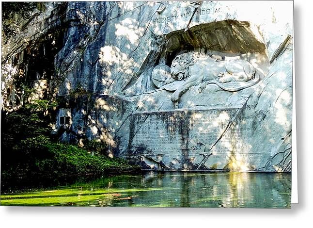 The Lion Monument In Lucerne Switzerland Greeting Card