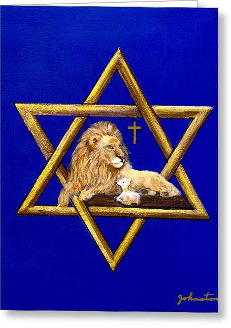 The Lion Of Judah #7 Greeting Card by Bob and Nadine Johnston