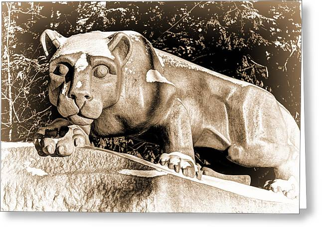 The Lion Shrine Greeting Card