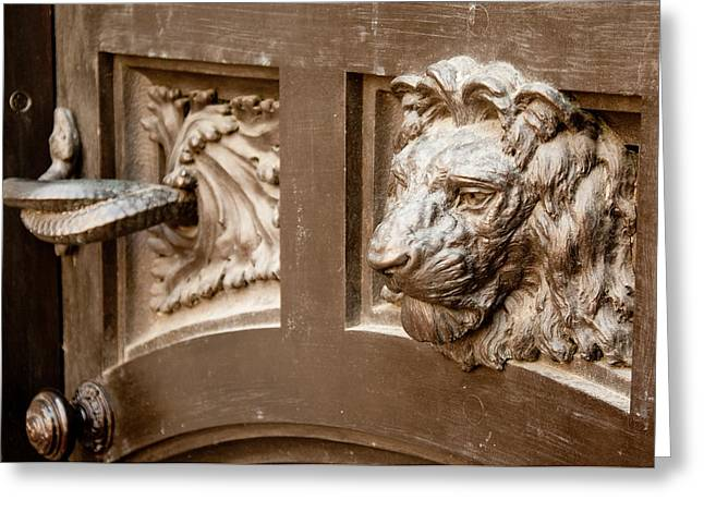 The Lion's Head Door Greeting Card