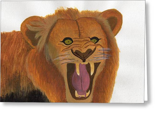 The Lion's Roar Greeting Card by Bav Patel