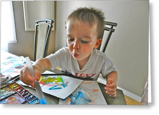 The Little Artist Greeting Card