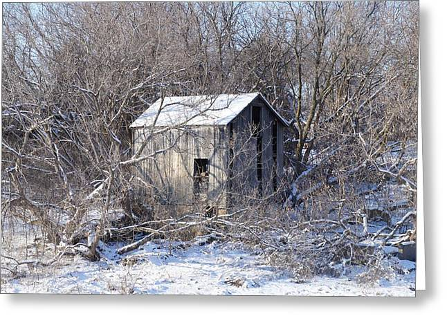 Greeting Card featuring the photograph The Little Barn by Kristine Bogdanovich