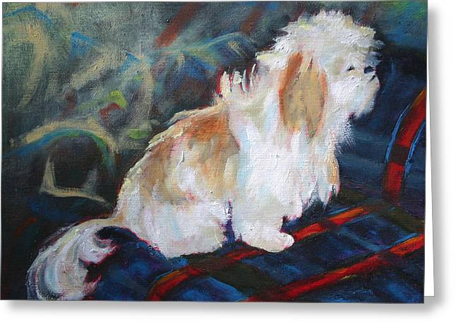 The Little Dog Prince Greeting Card by Carol Jo Smidt
