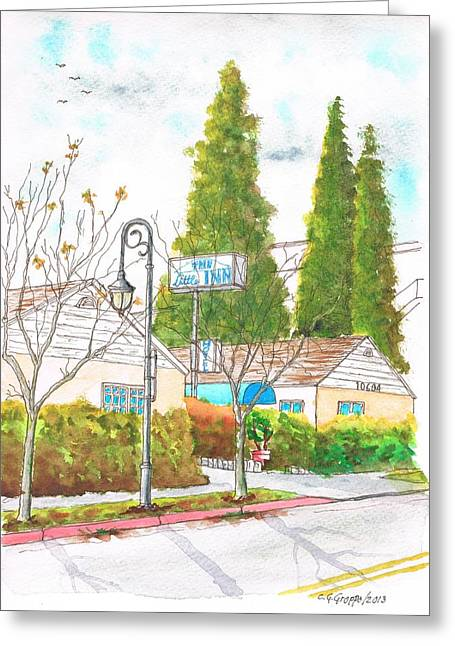 The Little Inn In Little Santa Monica Blvd. - Santa Monica - California Greeting Card