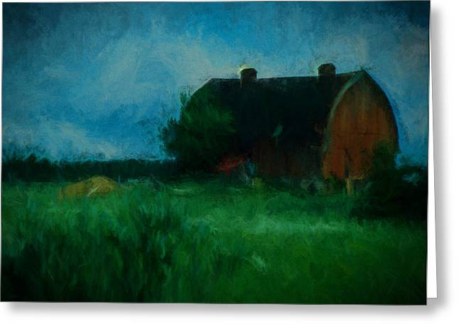 The Little Old Barn Greeting Card by Cathy Anderson