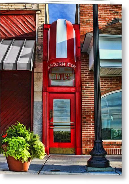 The Little Popcorn Shop In Wheaton Greeting Card