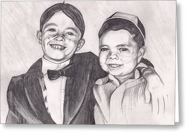 The Little Rascals Greeting Card by Beverly Marshall