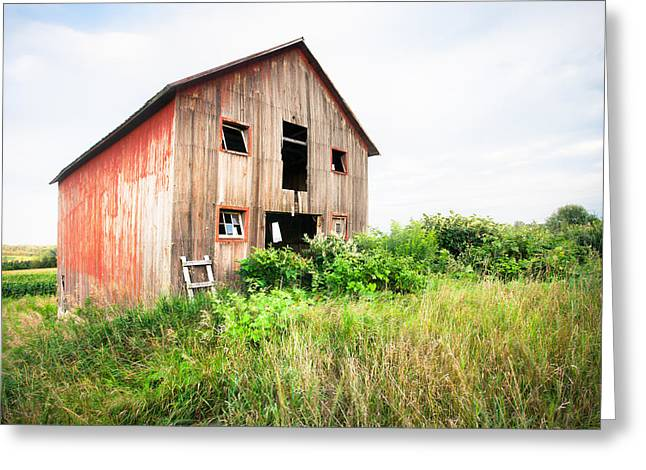 Old Structure Greeting Cards - The little Red Shack on Tucker Road - Old barns and things Greeting Card by Gary Heller