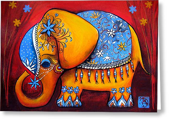 The Littlest Elephant Greeting Card by Karin Taylor