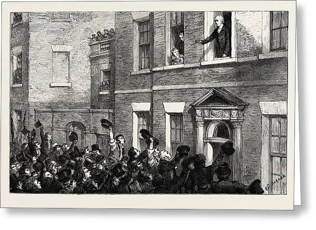 The Liverpool Election, 1812, Uk Mr. Gladstone Speaking Greeting Card