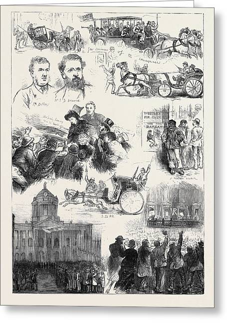 The Liverpool Election 1880 Greeting Card by English School